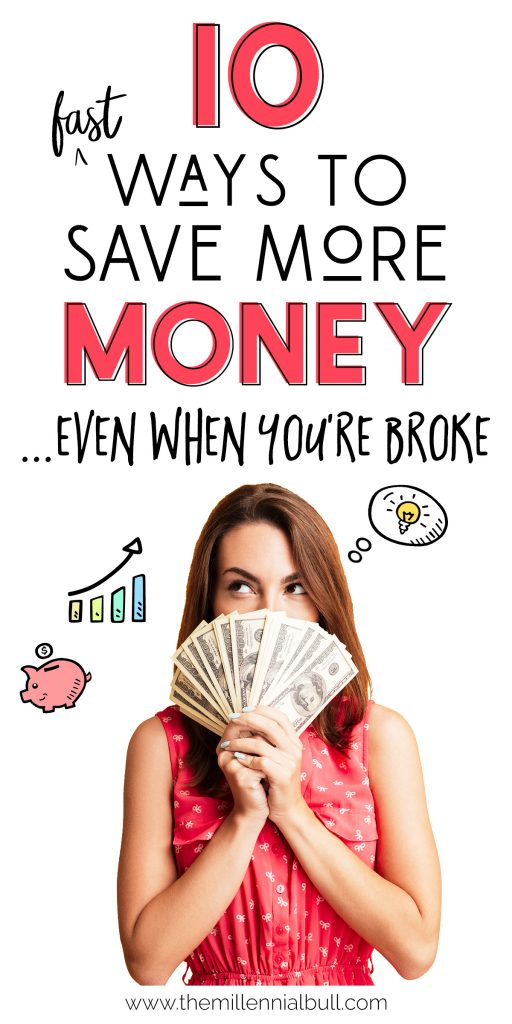 How To Save More Money Even When You Are Broke - How To Building Your Savings Account On A Low Income - Savings Tips For Low Or One Income Households - Easy Ways To Start Saving Money Today | themillennialbull.com