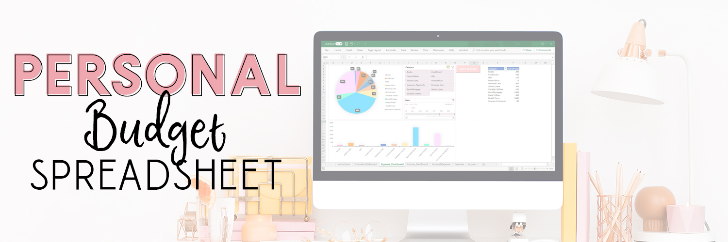 personal finance budget tracker_pink