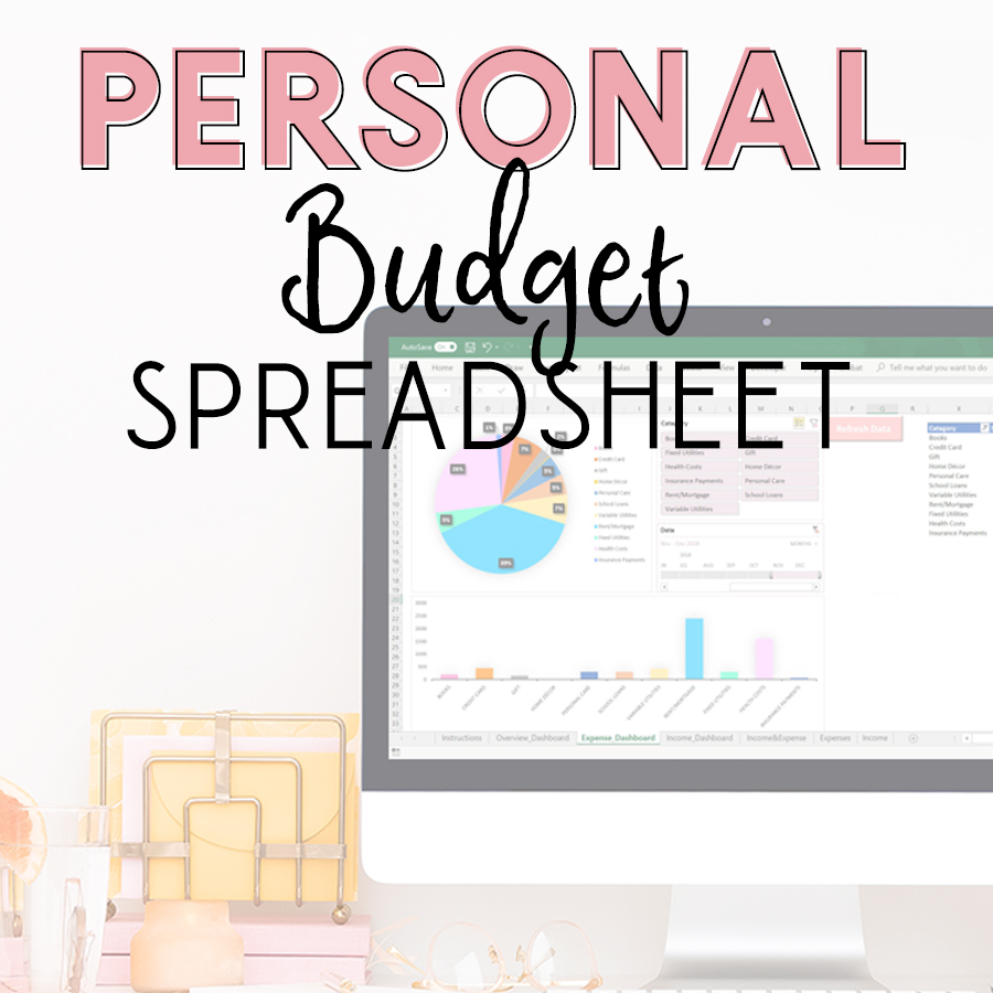 Keep track of all your income and expenses on our easy-to-use excel budget spreadsheet! This personal budget tracker is an easy way to log all of your incoming and outgoing money. This is great for people looking to get out of debt, save money, or simply keep better track of their personal finances. #budgetspreadsheet #budgettracker #personalfinance