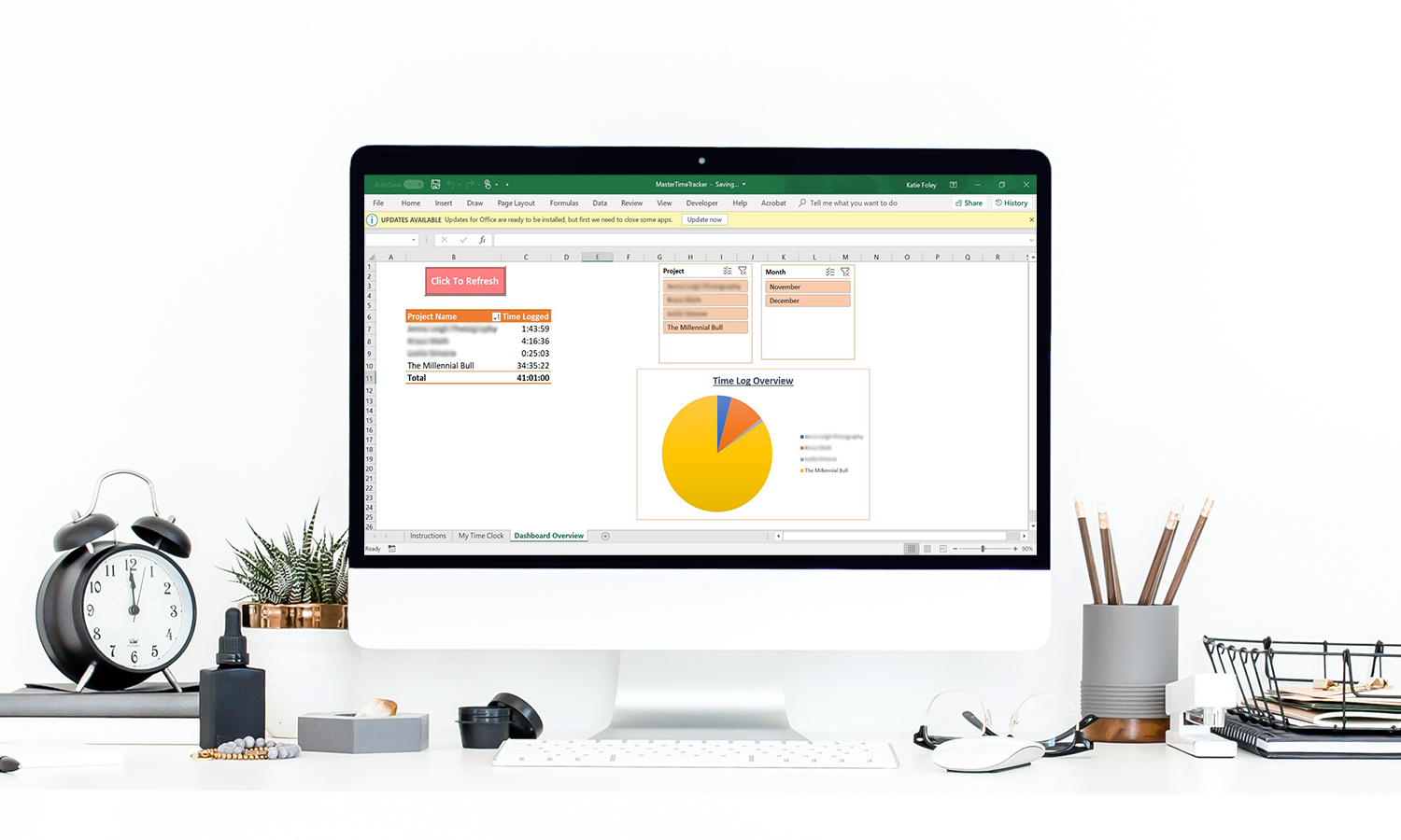 Clean Computer With Excel Dashboard 1500x900b - How To Be Productive Working From Home